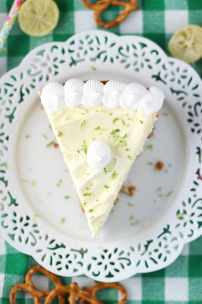 key lime cheesecake with pretzel crust 6