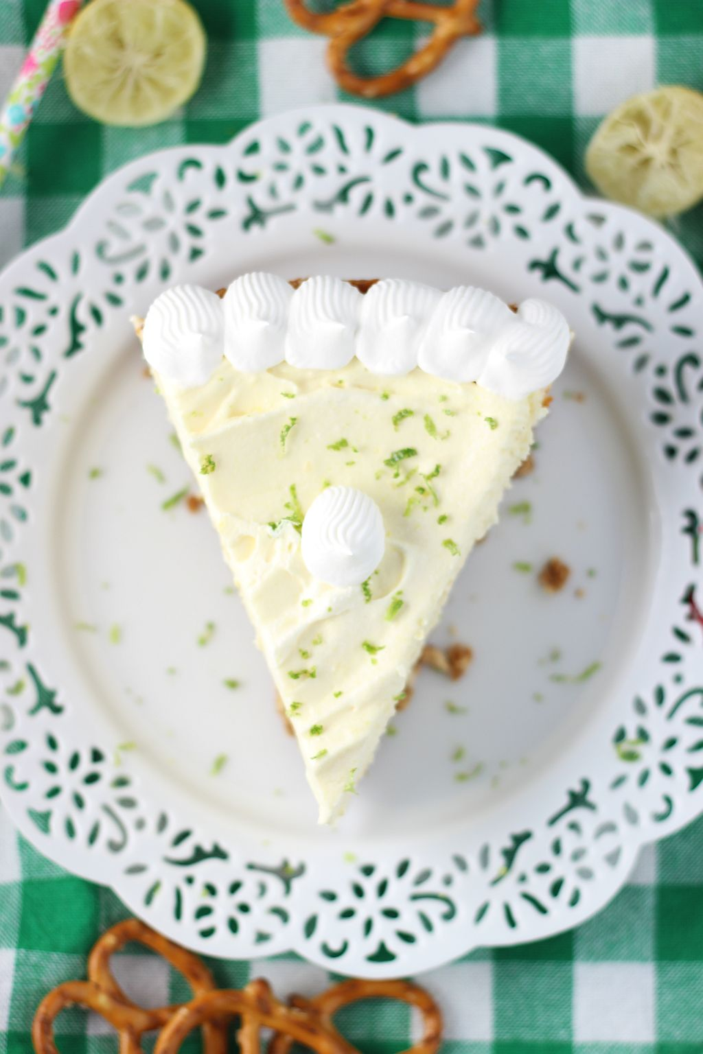 Key Lime Cheesecake with Pretzel Crust