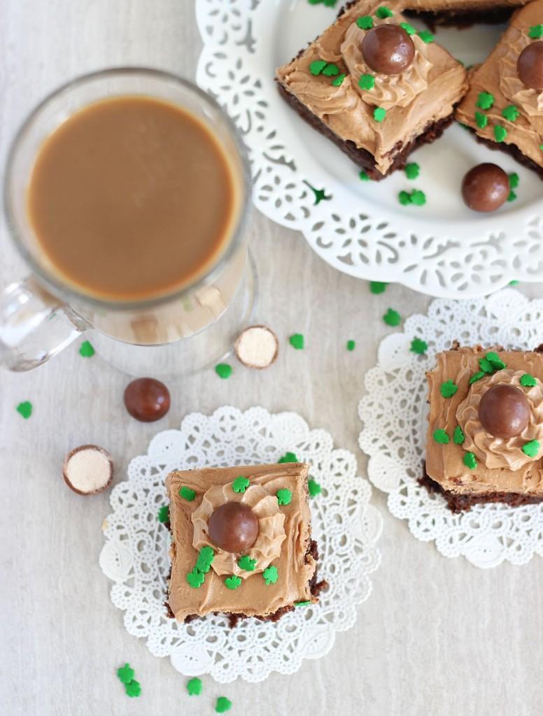 malted bailey's irish cream brownies 14