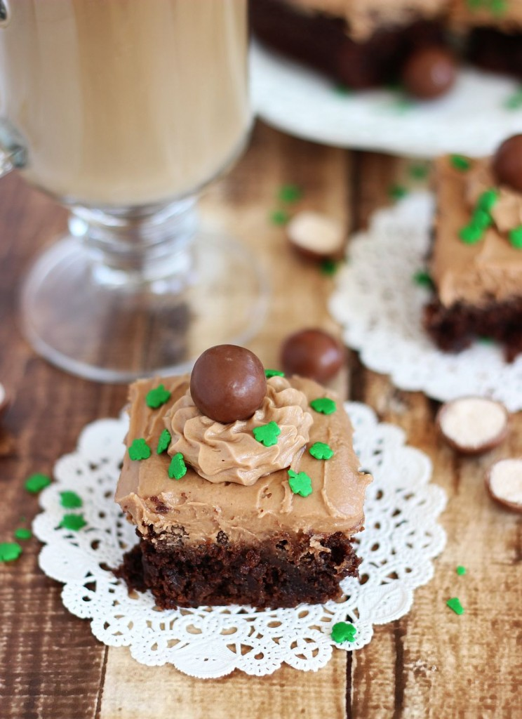 malted bailey's irish cream brownies 24