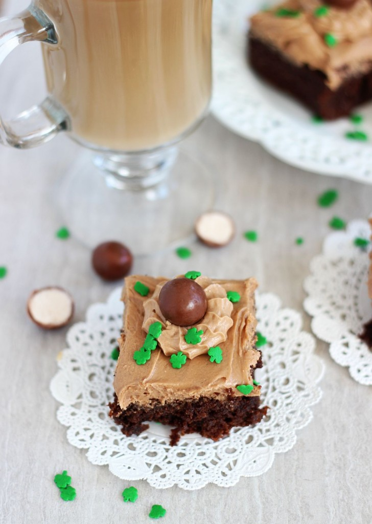 malted bailey's irish cream brownies 5
