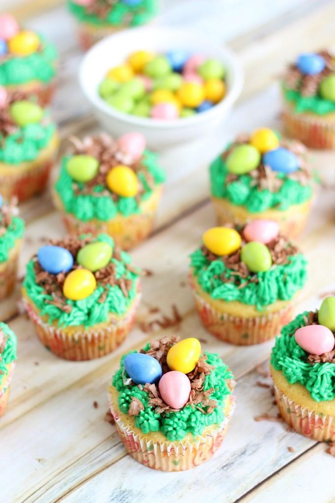 birds egg nest cupcakes 10