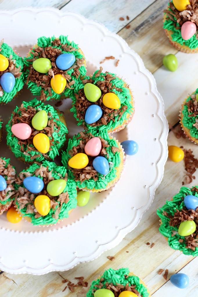 birds egg nest cupcakes 17