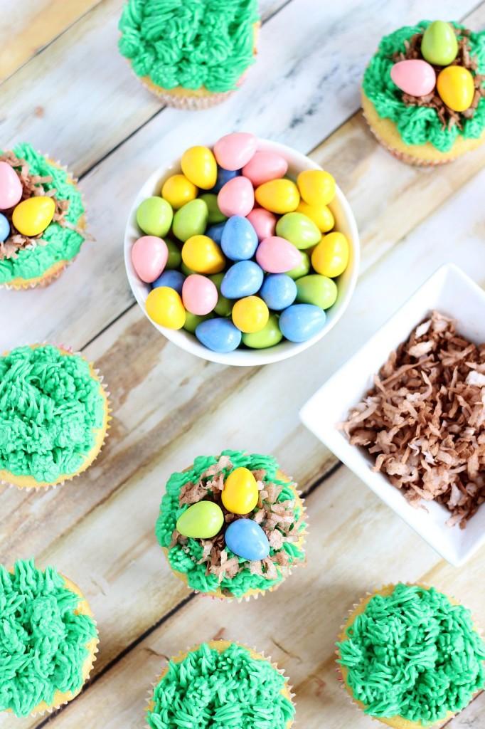 birds egg nest cupcakes 5