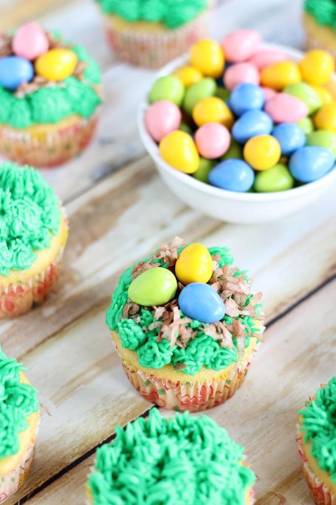 birds egg nest cupcakes 6