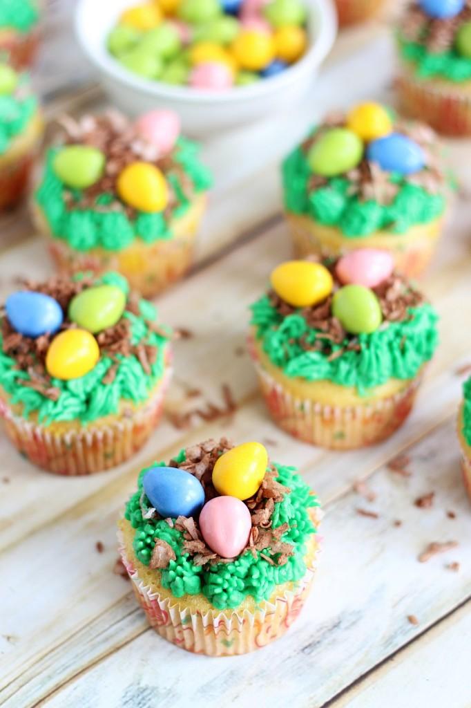 birds egg nest cupcakes 7