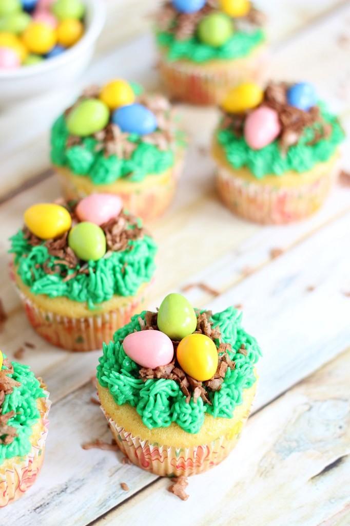 birds egg nest cupcakes 9