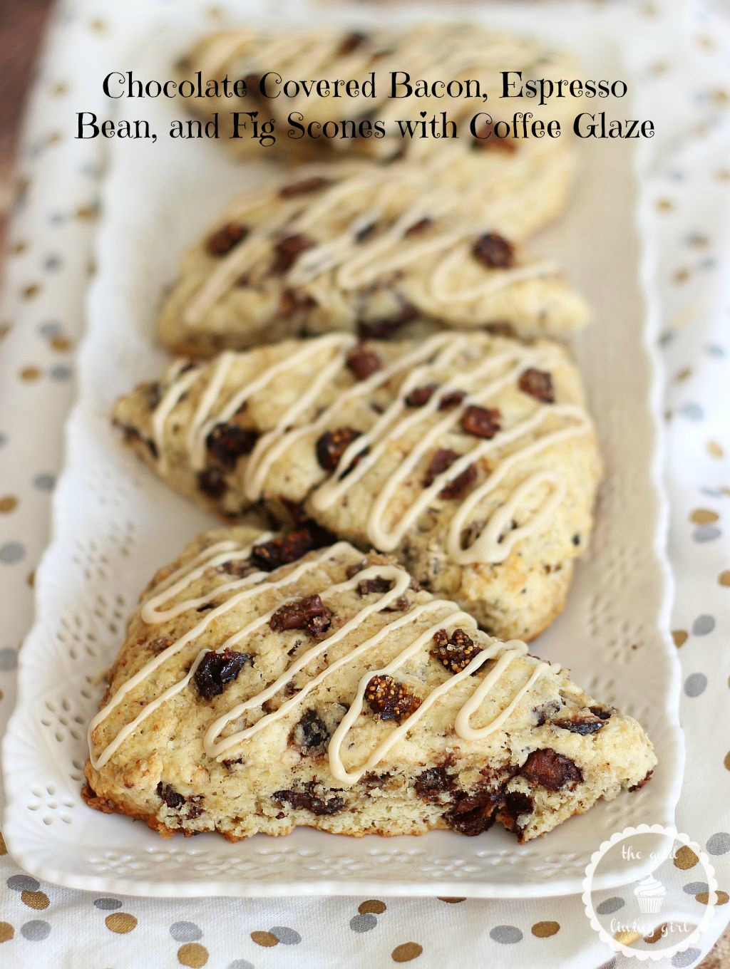 Chocolate Covered Bacon, Espresso Bean, and Fig Scones