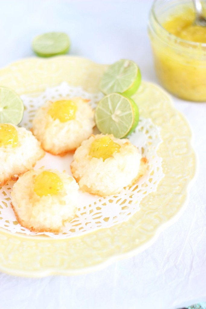 key lime curd macaroon thumbprints 4