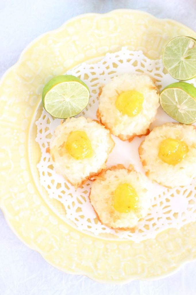 key lime curd macaroon thumbprints 6