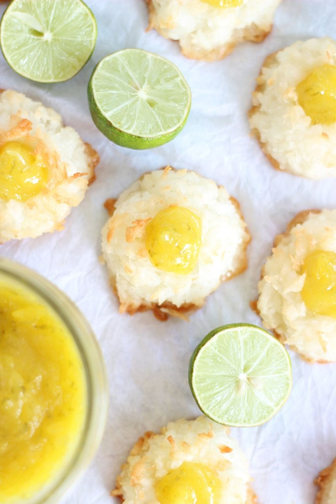 key lime curd macaroon thumbprints 8