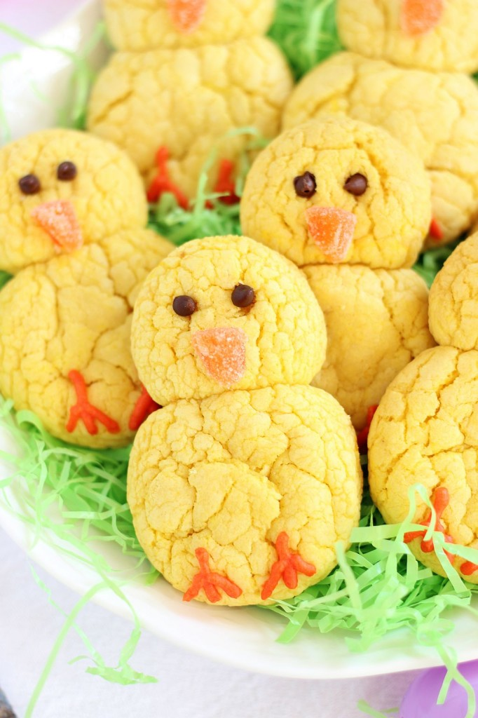 lemon cake mix cookie easter chicks 2