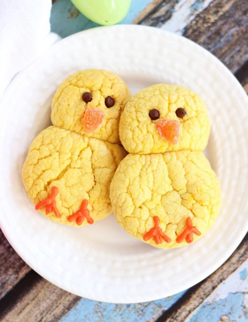 lemon cake mix cookie easter chicks 4