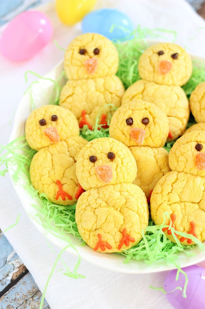 lemon cake mix cookie easter chicks