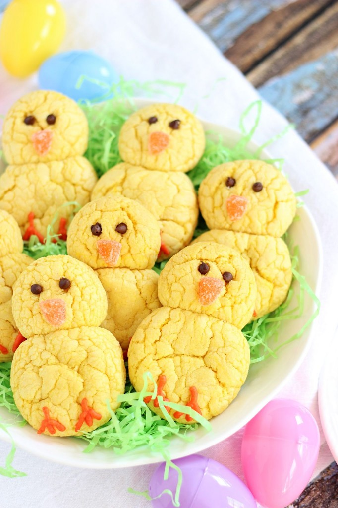 lemon cake mix cookie easter chicks 6
