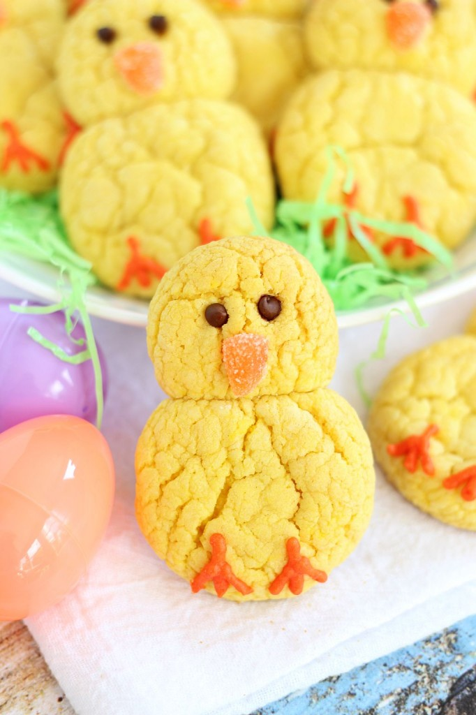 lemon cake mix cookie easter chicks 9