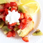 Lemon Pound Cake with Strawberry-Kiwi Sauce