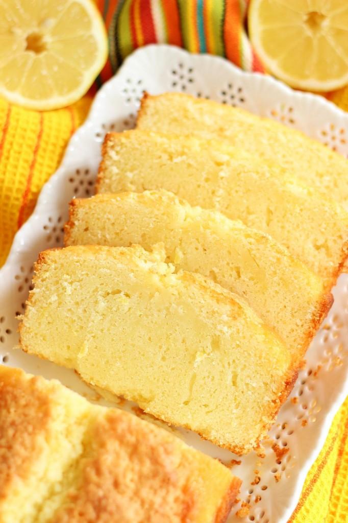 Lemon Pound Cake With Strawberry Glaze