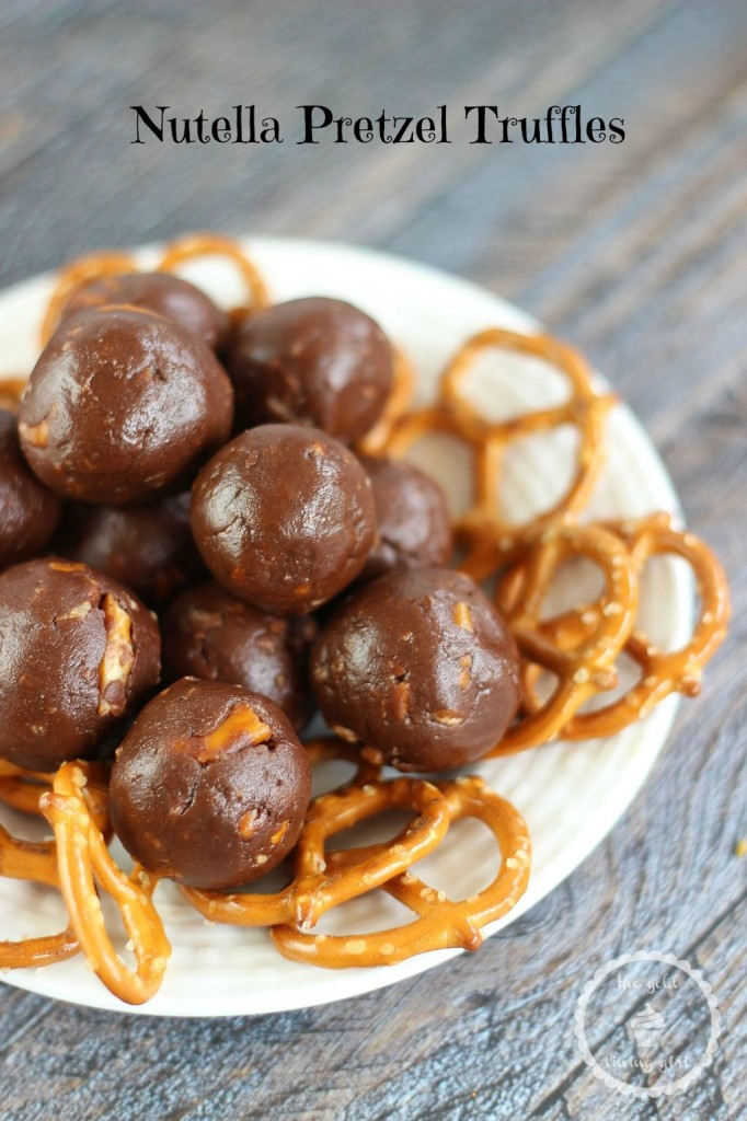 Super simple, no bake, 4-ingredient Nutella Pretzel Truffles. Sweetened Nutella and crushed pretzels make for a delightful and easy sweet-and-salty truffle!