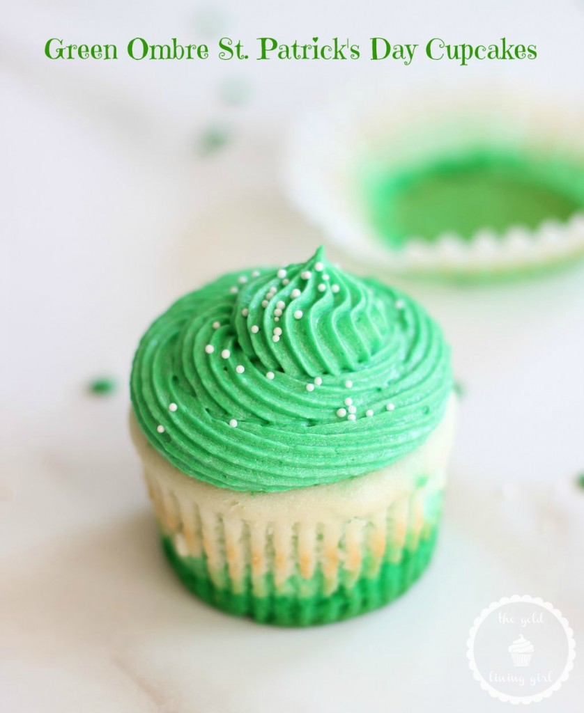 st. patrick's day cupcakes green ombre cupcakes 16 pin