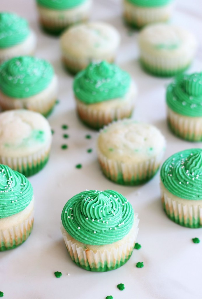 st. patrick's day cupcakes green ombre cupcakes 8