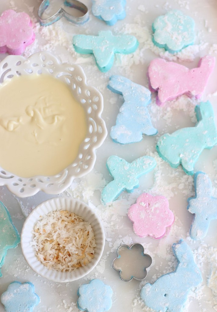 white chocolate dipped coconut marshmallows 16