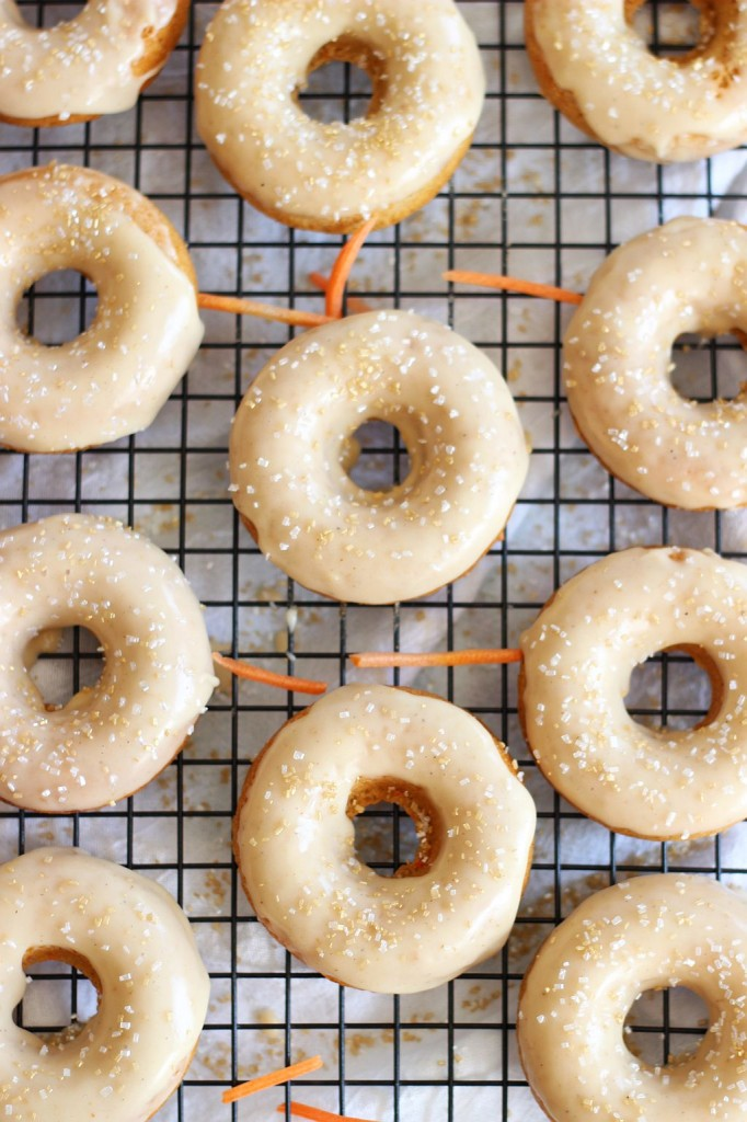 baked carrot cake donuts with honey butter glaze 12