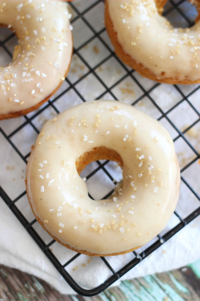 baked carrot cake donuts with honey butter glaze 7