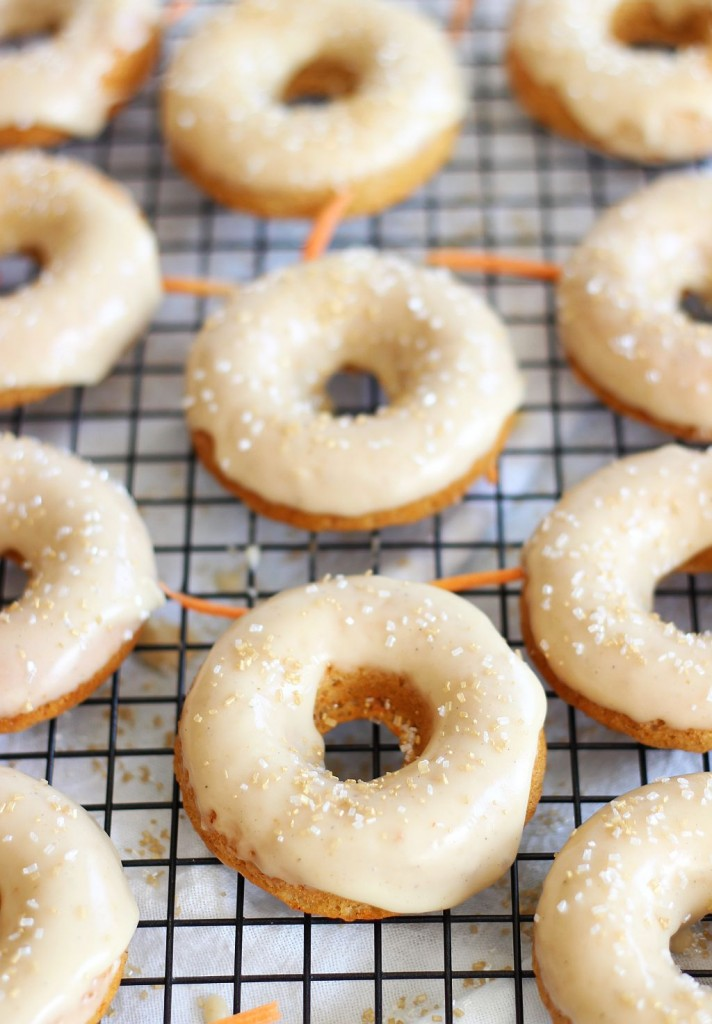 baked carrot cake donuts with honey butter glaze 8