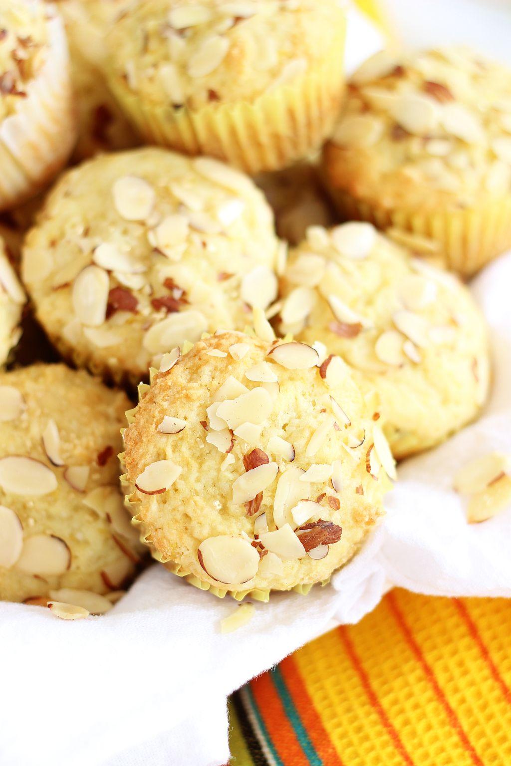 Lemon Almond Ricotta Muffins