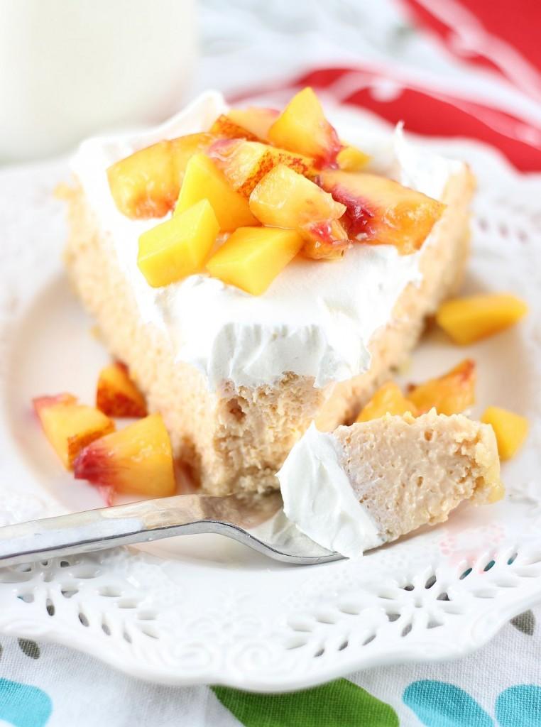 mango peach cheesecake with macadamia shortbread crust 22