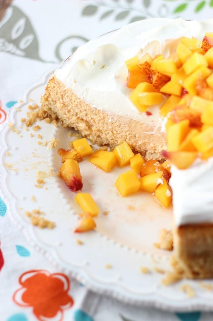 mango peach cheesecake with macadamia shortbread crust 29