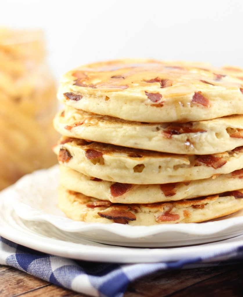 bacon pancakes with caramelizezd apples 2