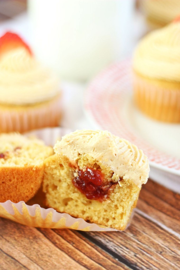peanut butter & jelly cupcakes 20