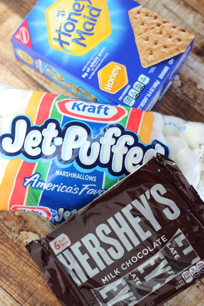 10 minute peanut butter s'mores dip 1