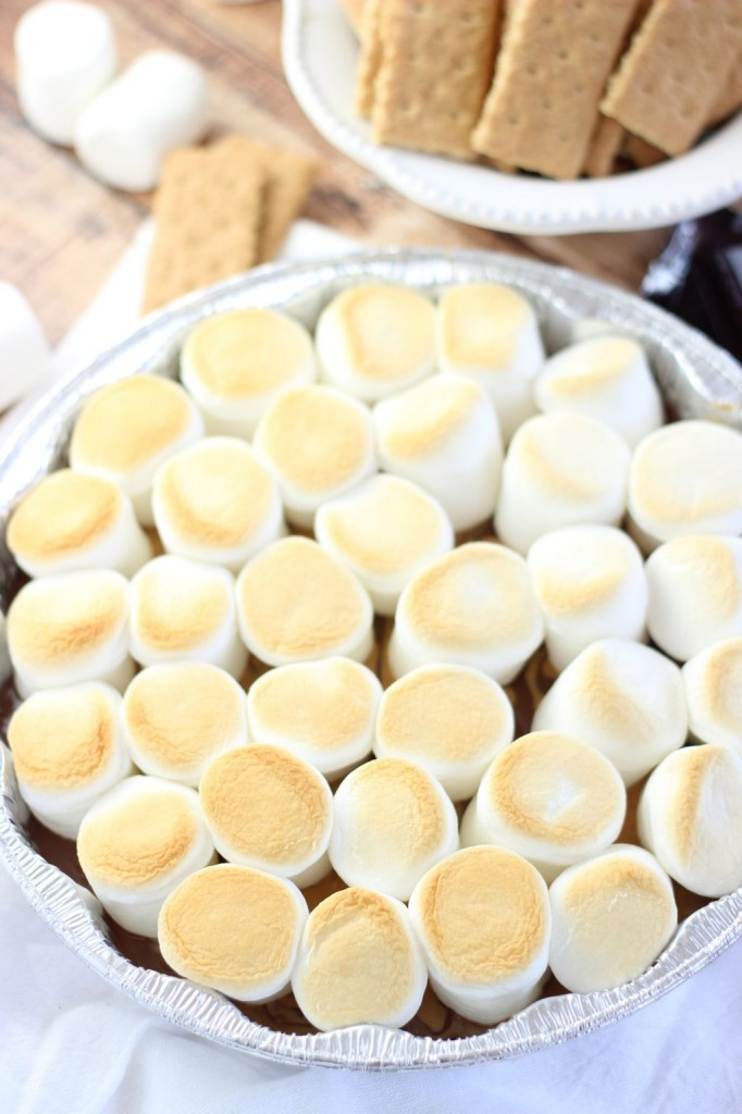10 minute peanut butter s'mores dip 11