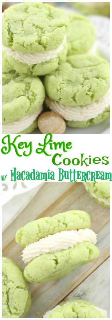 Key Lime Whoopie Pies with Macadamia Buttercream pin