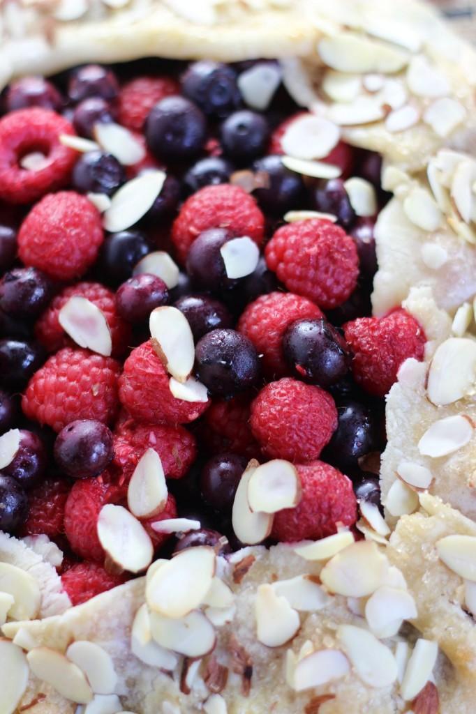 blueberry raspberry almond galette 10