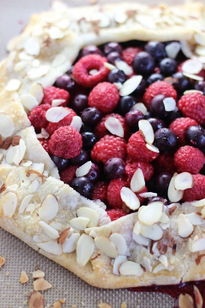blueberry raspberry almond galette 13