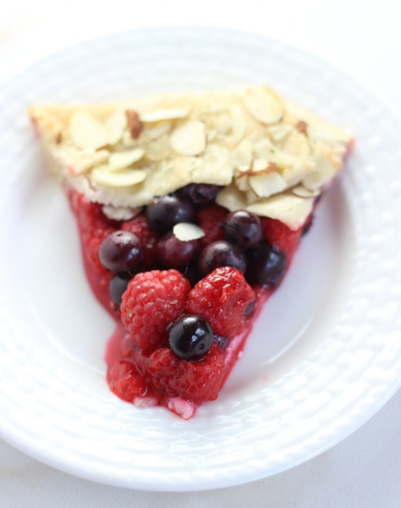 blueberry raspberry almond galette 14