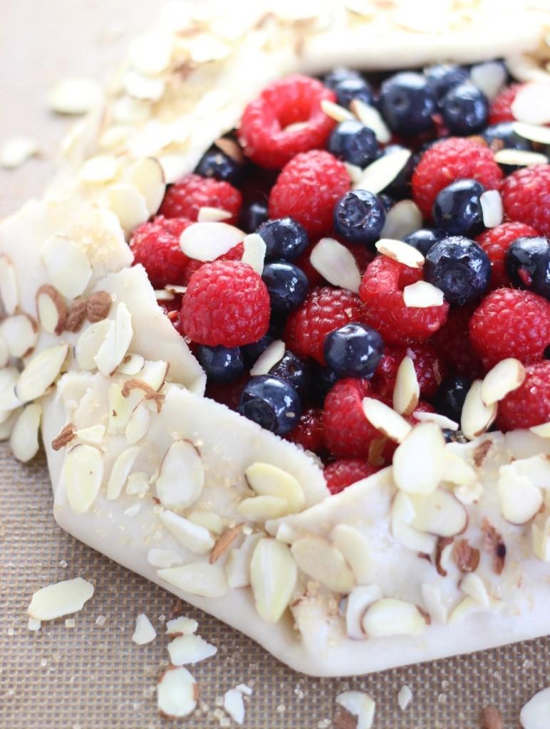 blueberry raspberry almond galette 5