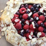 Blueberry Raspberry Almond Galette