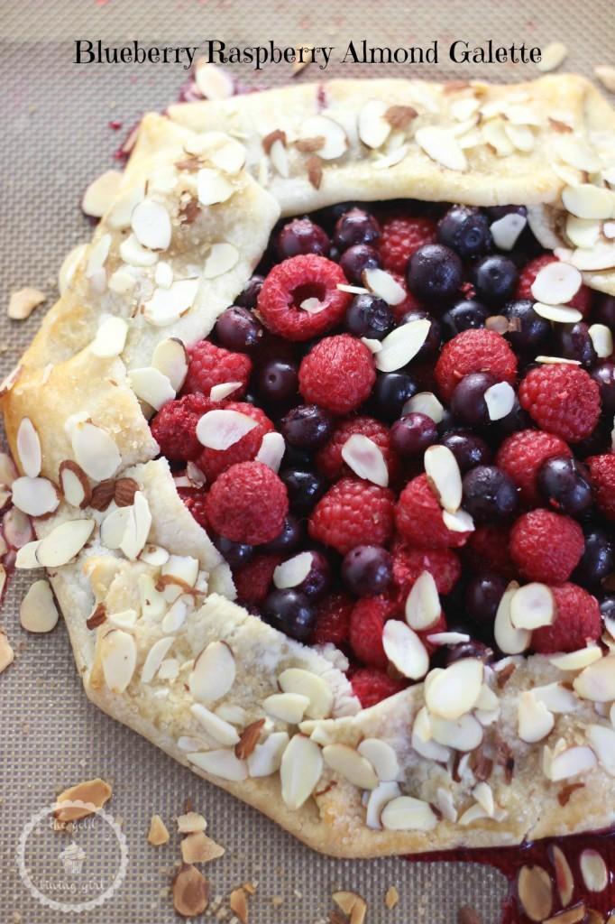 blueberry raspberry almond galette 7 pin