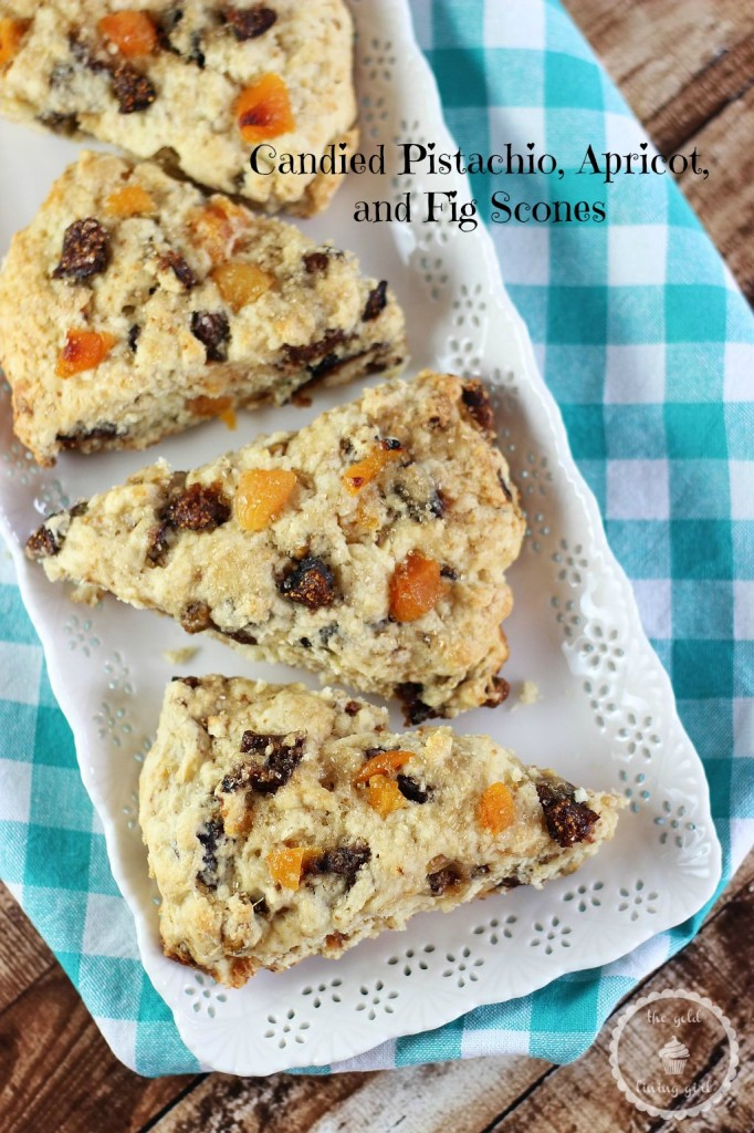 Tender and moist scones bursting with candied pistachios, apricots ...