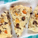 Candied Pistachio, Apricot, and Orange Fig Scones