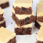 Cherry Bourbon Brownies with Brown Sugar Frosting