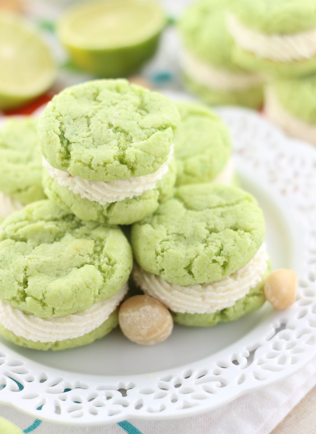 Key Lime Whoopie Pies with Macadamia Nut Buttercream