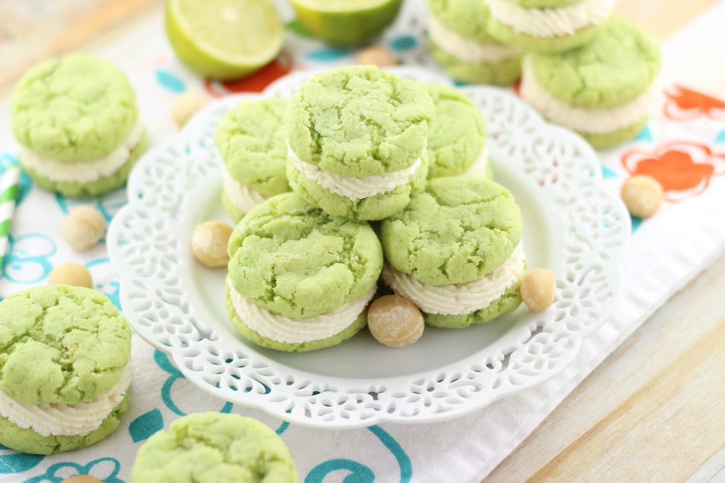 key lime whoopie pies with macadamia nut buttercream 16