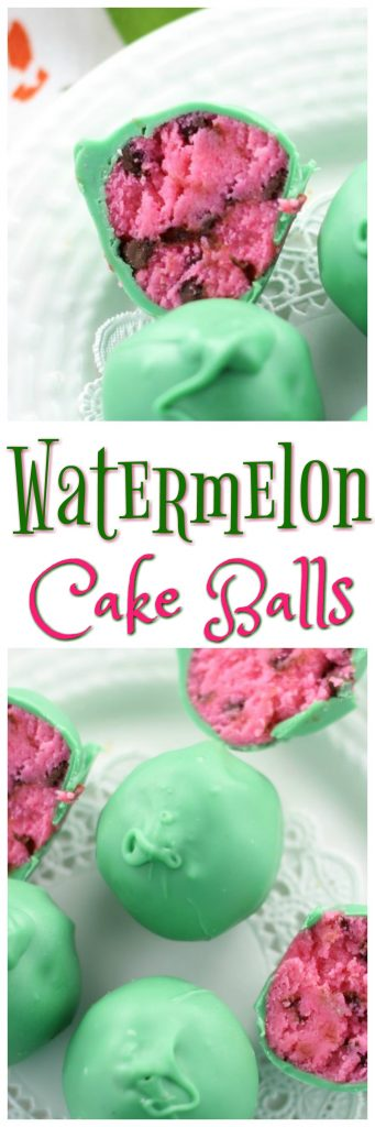 Watermelon Cake Balls pin 1