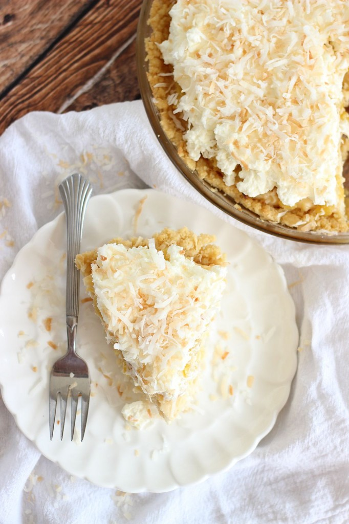 coconut cream pie with caramelized pineapple and whipped topping 27